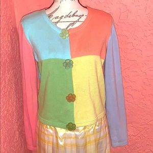 Vintage Benetton Pastel Colorblock Sweater
